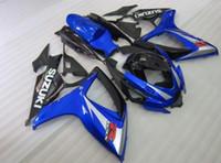 Wholesale Silver Blue Gsxr Fairings - Free gifts New hot motor Fairing Kits For SUZUKI GSXR 600 750 K6 06 07 GSXR-600 GSXR750 GSXR600 GSXR-750 2006 2007 black blue silver