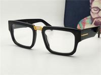 Wholesale Double Lens - New luxury brand designer optical frame F00036 large square frame retro leisure decorative transparent lens frame