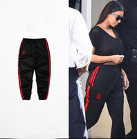 Wholesale Loose Pants For Women - High Quality Kanye West Season 4 Black Jogger Calabasas Pant Man Woman Elastic Waist For Dace Sport Running