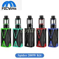 Wholesale Multi Spider - Authentic Kanger Spider 220W Starter Kit and Mod Battery 4200mAh Lipo with AKD Five 6 Mini Tank 4ml Top Refilling 100% Original