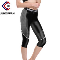 Wholesale One Size Women S Leggings - Women Cropped Yoga Pants Female Print Quick Dry Elastic Tights Gym Workout Running Fitness Spandex Sports Leggings Plus Size 01-05