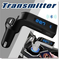 Wholesale bluetooth design - G7 Car Wireless Bluetooth MP3 FM Transmitter L Design Modulator 2.1A Car Charger Wireless Kit Support Hands-free Micro SD TF GGA68