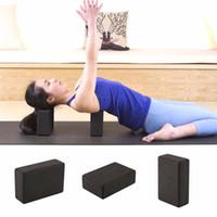 blocos de yoga vermelho venda por atacado-Atacado-HOT Mulheres Homens de Alta Densidade GINÁSIO Exercício Rodada Bloco de Yoga Tijolo Espuma Eva Equipamento de Treinamento de Fitness de Fitness 2 Cores Preto Rosa Vermelha