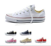 Wholesale Style Casual Leather Shoes - New star big Size 35-46 High top Casual Shoes Low top Style sports stars chuck Classic Canvas Shoe Sneakers Men's Women's Canvas Shoes