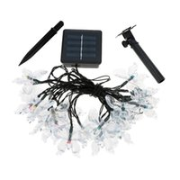 Wholesale Led Christmas Lights Butterfly String - Wholesale- 4.7M 20 Led Solar Fairy Light String Lamp Multi Color Butterfly Xmas Party