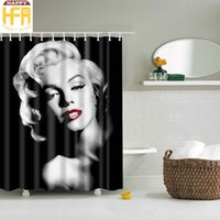 Wholesale Marilyn Monroe Shower Curtains - Bathroom Shower Curtains Marilyn Monroe Pattern Digital Printing Bath Curtain High Quality Bathroom Decor Drop Shipping 2 Sizes to Choose