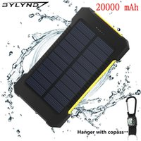 Wholesale BYLYND Solar Power Bank mAh Double USB Solar charger External Battery Portable Charger Bateria Externa Pack for smart phone