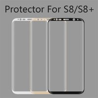 Wholesale 3d Fingerprint - 3D Curved Surface Screen Protector 3 Colors High Quality Anti-fingerprint Protective Film For Samsung S8 S8 Plus