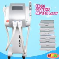 Wholesale Ipl Machine For Hair Laser - IPL elight for hair removal skin rejuvenation machine ND Yag opt shr elight laser hair removal tattoo removal beauty equipment wholesale