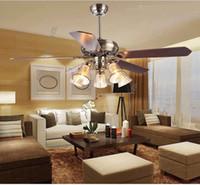 salles à manger anciennes achat en gros de-Ventilateur de plafond lumière salon antique salle à manger ventilateurs plafonnier ventilateur de plafond de style européen lampe de chambre à coucher de style européen