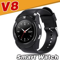 Wholesale Touch Mobile Watch Phone - V8 Smart Watch waterproof Android Camera MTK6261D Mobile phone Bluetooth touch smart watches USB Micro Sim TF card healthDZ09 A1 Q18