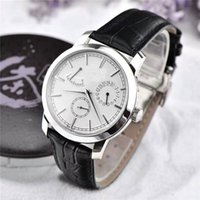 Wholesale mens automatic power reserve watch - 2017 New Listing Top Luxury Mens Watches hours power reserve date display classic complex function steel material luxury wristwatches