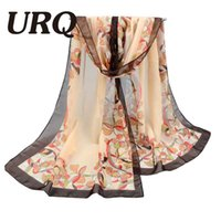 Wholesale Butterfly Scarf Silk Flower - Wholesale- 2016 New Women's Fashion flower Soft Silk Chiffon Shawl Wrap Butterfly Scarf Scarves P5A16014
