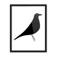Wholesale Simple Abstract Paintings Canvas - Free shipping novelty gift simple elegant black bird pattern home cafe hotel restaurant decorative hanging poster photo picture