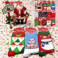 Wholesale Colored Cotton Socks Women - 2016 New Winter Warm Thick Cute Cartoon Style Christmas Lady And Women Cotton Sock Christmas Stockings