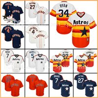 Wholesale Custom Houston Astros MLB Nolan Ryan Baseball Jerseys Jeff Bagwell Jose Altuve Carlos Correa George Springer Craig Biggio Jersey