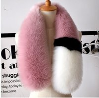Wholesale Animal Fox Fur - 2017 womens winter newest fashionable scarf luxury brand scarves fox fur scarfs foulards echarpe hiver femme fulares mujer schal luxus mark