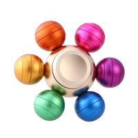Alloy sports gifts arms - EDC DIY Rainbow Colorful Dragon Ball Six Arm Removable Hand Fidget Spinner Finger Toy Aluminum Metal Fingertip Anti Stress Gag Toy Kids Gift