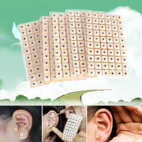 Wholesale Ear Stickers - 600pcs lot Particle Therapy Ear Seeds Stickers Ear Acupuncture Needle Patch Ear Care Massage Chinese Therapy Acupuncture HT0065