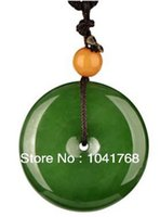 Wholesale Green Jade Circle Pendant - Beautiful green jade Pendants Free shipping safe and sound jade wholesale and retail fashion jewelry