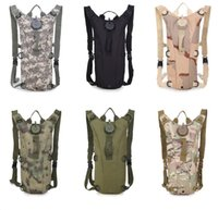 Wholesale Colored Bikes Wholesale - 3L Portable Hydration Packs Camo Tactical Bike Bicycle Camel Water Bladder Bag Assault Backpack Camping Hiking Pouch Water Bag