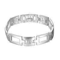 Wholesale Plated Spring Ring Clasp - Free shipping Wholesale 925 Sterling silver plated Spring-ring-clasps charm bracelets LKNSPCH343