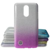 telefones celulares zte max venda por atacado-Flash em pó colorido phone case para lg k20 plus / k10 2017 zte z max pro 2 / moto e4 tpu + pc + adesivo anti-queda caso de telefone celular
