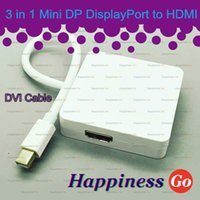 3 in 1 mini porta al cavo video DVI HDMI DP adattatore audio per Apple Mac Pro MacBook Air