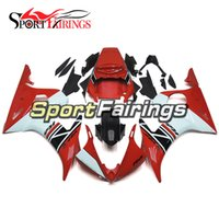 Red Black White Kit de carenagem completo para Yamaha YZF 600 R6 YZF-R6 03 04 2003 2004 Sportbike ABS Motorcycle Fairing Kit Bodywork Carenes
