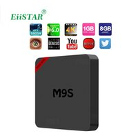 Mini M9S Amlogic S905X Quad Core 1 Go / 8 Go Android 6,0 ​​TV Box 3D 4K OTT Box compatible avec le joueur Media Player VS MXQ X96