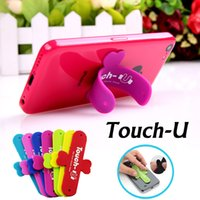 Wholesale Edge Tablet Phone - Universal Portable Touch-U One Touch Silicone Stand Holder Cell Phone Mounts For iPhone 7 Plus 6S Samsung S8 S7 Edge iPad Tablet Touch-U