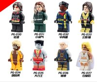 x men classics figures achat en gros de-PG8012 Marvel X-men Super Heroes Sabretooth Colossus White Queen Figurines DIY Mini Doll Classic Lepin Compatible Block toys