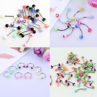 Wholesale 50pcs Titanium Stainless steel Body Jewelry hoop Belly Tongue Ring Lip Eyebrow Piercing