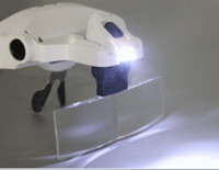 Wholesale Best Headlamps - 2017 Best Selling 5 Lenses LED Lamp Head Light Flashlight Headlamp Magnifying Glass Glasses Head Magnifier Eyeglass Night Read