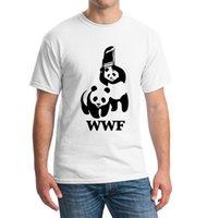 Wholesale Funny Comedy - Wholesale- WEWANLD WWF Wrestling Panda Comedy Short Sleeve Cool Camiseta T Shirt Men Camisetas T Shirt Summer Fashion Funny T-shirt