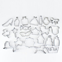 Wholesale Princess Molds - Mermaid Unicorn Princess Crown Baby Dress Multi Shape Metal Stainless Steel Cake Molds Cookie Cutter Large Set for Kids Pack 21