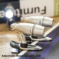 Wholesale Mini Wireless Bullet - LED Mini Flexible Super-Bright Wireless Bullet Clip Book Light Reading Light Students Reading LED Lights Battery Bulb