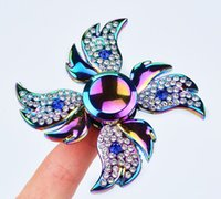 Wholesale best toys for adhd for sale - Group buy Best Rainbow Angel Wings Diamond Fidget Hand Spinner Puzzle Gyro Toy Floral Time Killer EDC Focus Finger Spinner For Kids Adult ADHD Autism