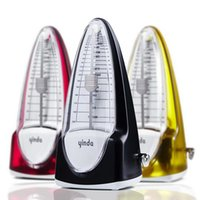 Wholesale Bullet shape Chinese patented product High accuracy Tempo Mechanical Metronome Plastic Cover Musicians Yinda Metronomes Piano Violin Guitar