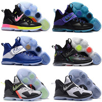 Wholesale Baby Home Shoes - 2017 Top Quality James 14s Christmas Home Men's Basketball Shoes With Black Red LBJ 14 XIV James Baby, Kids Athletic ShoesSize 7-12
