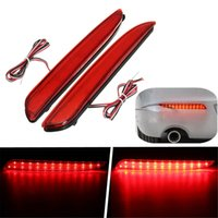 Wholesale Led Rear Bumper Reflectors - 2Pcs 24 LED Rear Bumper Reflector Tail Brake Stop Running Turning Light For Mazda 3 2010-2013