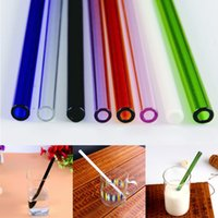 Wholesale Drinking Straws For Party - Wholesale-New Arrival 8mm Reusable Straight Pyrex Glass Drinking Straws for DIY Wedding Birthday Party Tools