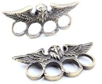 Wholesale Tops Steel Eagle - 1 PCS EAGLE HEAD THIN STEEL BRASS KNUCKLE DUSTERS NEW Top Quality Best Price Free Shipping