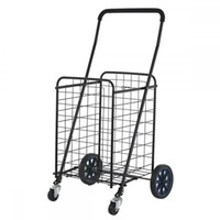 Wholesale Grocery Carts - Folding Shopping Cart Jumbo Size Basket with Wheels for Laundry Grocery Travel