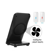 Wholesale Blackberry Fan - Qi Fast Wireless Charging Charger Dock stand Fan cooling for Samsung Galaxy S8 S7 S6 edge plus Free shipping