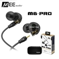 Wholesale Ear Phones Colors - New Arrival MEE Audio M6 PRO Noise Canceling 3.5mm HiFi In-Ear Monitors Earphones with Detachable Cables Wired earphone 2 Colors DHL Free