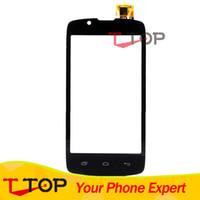 iphone передняя панель оптовых-Wholesale- Touch Screen For  IQ4490 ERA Nano 4 IQ 4490 Front Glass Touch Panel Digitizer Black Color 1PC/Lot
