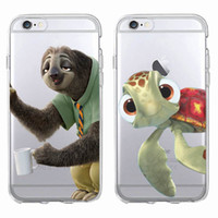 Wholesale Iphone 4s Turtle Cases - Cute Sloth Crush Turtle Cartoon Soft Clear Phone Case Cover Fundas Coque For iPhone 7 7Plus 6 6S 6Plus 5 5S SE 5C 4 4S
