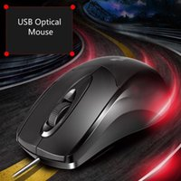 Novo USB Optical Wired Scroll Wheel Mouse PC Laptop Notebook Mice para Office Home Gaming Mouse Mice with Retail Box Frete Grátis