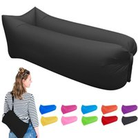 Wholesale Fast Inflatable Air Lounger Portable with Carry Bag Waterproof Air Bag Sofa Nylon Beach Bag Air Sleeping Sofa Couch Lazy Bed for Hiking